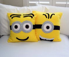 Minions Fleece Throw Pillow, Minions Movie, Despicable Me Movie by PatternsOfWhimsy on Etsy