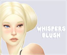 """eirflower: """"  ⚰️ DOWNLOAD ⚰️ CONTAINS: • Whispers Blush (16 swatches) IF YOU HAVE THE OLD BLUSH IN YOUR MODS FOLDER, YOU MUST REMOVE IT. THIS ISN'T COMPATIBLE WITH IT. Credits to @lilith-sims for the original texture! • Please don't reupload •..."""