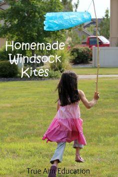 homemade windsock kites