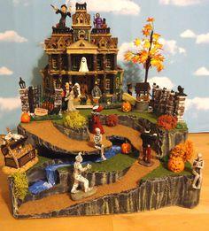 Dept 56 Snow Village Halloween Display Platform Base Lemax Spooky Town Pathway | eBay