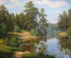 Потапов Виталий. Озеро в сосновом лесу