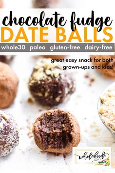 Whole 30 Dessert, Whole 30 Snacks, Whole 30 Recipes, Healthy Desserts, Easy Desserts, Healthy Food, Paleo Sweets, Healthy Cookies, Healthy Treats