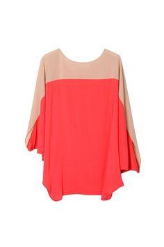 oasap | contrast blouse $102