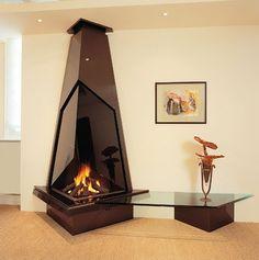 Unique and Amazing Modus Design Fireplaces Hanging Fireplace, Fireplace Mantle, Fireplace Design, Metal Design, Classic Living Room, Fire Pit Patio, Interior Decorating, Interior Design, Cozy House