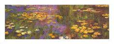 Water Lilies Art Print by Claude Monet at Art.com