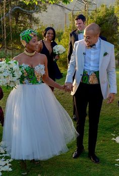 New York Meets South Africa Wedding: Morning Precious One. I've had this New York meets Africa wedding at the foref African Wedding Attire, African Attire, African Fashion Dresses, African Dress, South African Wedding Dress, Nigerian Fashion, Ghanaian Fashion, South African Weddings, African American Weddings
