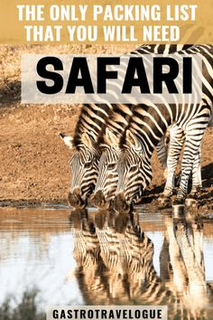 An expert list of what to pack for a safari Travel Vacation List Holiday Tour Trip Destinations Packing List For Travel, Packing Tips, Travel Tips, Travel Destinations, Holiday Destinations, Travel Guides, Africa Destinations, Vacation Packing, Travel Plan