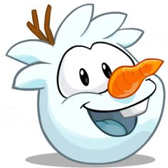 """Do you want to build a """"puffle snowman?"""" It's so cute!!!"""