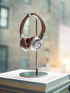 Master and Dynamic MH30 headphones. Yes, that's real leather.