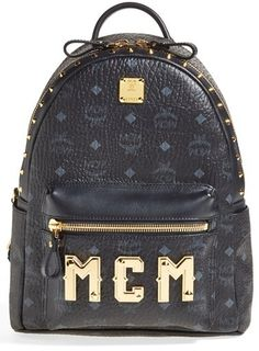 MCM 'Small - Visetos' Studded Backpack on shopstyle.co.uk