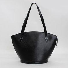 Louis Vuitton Saint Jacques Shopping Epi Shoulder bags Black Leather M52262