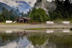 Situated along the waterfront on Vancouver Island, the Clayoquot Wilderness Resort is so remote it's only accessible by floatplane. Guests are shuttled in by horse-drawn carriage to 25 white canvas tents lining the water's edge. Every room is furnished with...