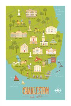 charleston maps