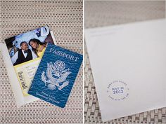 Planning a destination wedding? Daniel & Dara used our Passport-Style Love Airways Save the Date card to fit their Punta Cana Wedding!