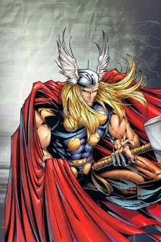 Thor - Original comic book Thor. Marvel Comics. Asgardian God of Thunder. Norse Mythology.