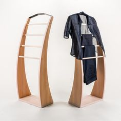 Clothes stand PLUTOO Solid beech wood wooden clothes