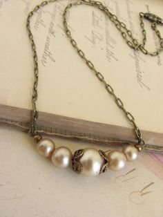 pearl necklace. That gives me an idea to re-design a necklace.