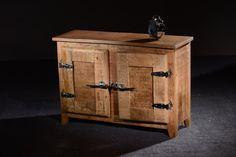 SIT-Möbel 2507-01 - Armadietto basso Frigo, in legno di mango massiccio, maniglie in stile frigorifero, 87 x 30 x 60 cm, laccate/nature: Amazon.it: Casa e cucina