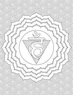 Throat Chakra Coloring Page