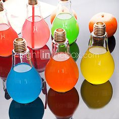 Creative Bulb Glass Water Bottle Portable Juice Cup  - USD $6.99 ! HOT Product! A hot product at an incredible low price is now on sale! Come check it out along with other items like this. Get great discounts, earn Rewards and much more each time you shop with us!