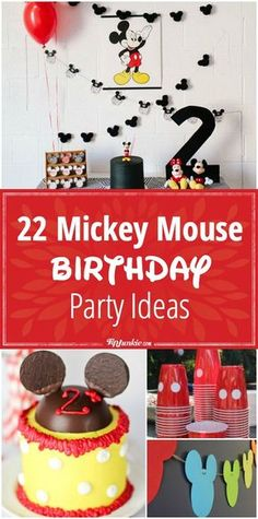 You'll love these Mickey Mouse Birthday Party ideas which include Mickey Mouse Cake ideas, party favors, and Mickey Mouse activities. Mickey Mouse Clubhouse Birthday Party, Mickey Mouse Parties, Mickey Birthday, Mickey Party, Mickey Mouse Party Favors, 1st Birthday Boy Themes Disney Mickey Mouse, Mickey Mouse Games, Mickey Mouse Crafts, 3 Year Old Birthday Party Boy