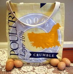 We love this Repurposed Feed Bag Tote from Tractor Supply's DuMOR Poultry Feed. Lisa shows you step-by-step how to make your own.