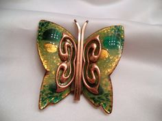 Matisse Enamel Butterfly Copper Brooch  and 2 Bonus by Zeppola