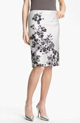 Vince Camuto Graphic Garden Pencil Skirt