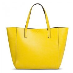Reversible Tote Handbag ($37), also comes in black, blues, green, grey, orange and pink. Available at Target.