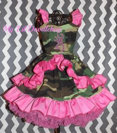 Camo OOC dress size 12 months pageant wear by MyLilDoodlebug, $105.00