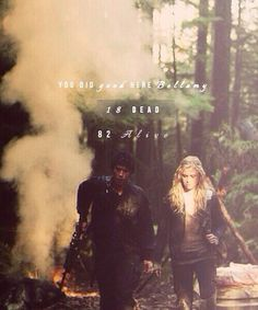 18 dead. 82 alive. You did good. || Bellamy Blake and Clarke Griffin (Bob Morley and Eliza Taylor) || The 100 ships: Bellarke