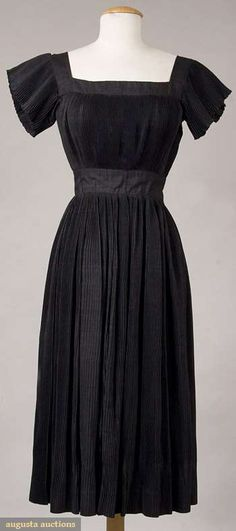 Bonnie Cashin Black Raw Silk Dress, 1952, Augusta Auctions, November 2009 Museum Fashion & Textile Sale, Lot 224