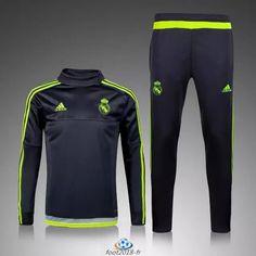 Real Madrid Football Shirt Cheap Replica Training Suit With Pants Black 93eb6ddb17ccb