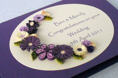 Hello again,   Today I thought I'd share with you another wedding card design.        This card design has become my number one bestseller ...
