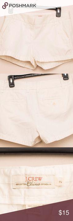 """J. Crew chino shorts White J. Crew """"broken in"""" chino shorts. J. Crew Shorts"""