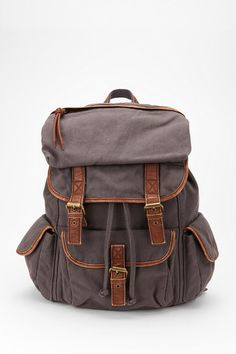 Ecote Solid Canvas Backpack Online Only
