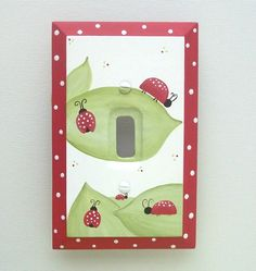 Ladybugs On A Stroll Switch Plate & Outlet Cover (Several Sizes Available)