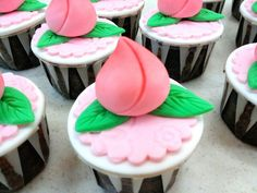 Longevity peach a Chinese symbol of long life. These cupcakes are just adorably perfect addition to any birthday celebration.