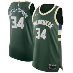 dde649684 Nike Bucks  34 Giannis Antetokounmpo Green NBA Authentic Icon Edition Jersey  Milwaukee Bucks