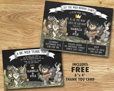 Where The Wild Things Are Baby Shower by BabyCollarPrintables