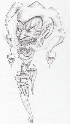 evil jester by markfellows on @DeviantArt