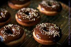 Baked Buttermilk Doughnuts with Chocolate Glaze