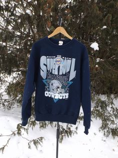 Super Bowl Sweater Dallas Cowboys Vintage Football Shirt Emmitt Smith Troy  Aiken 1994 Super Bowl Vintage Pullover Crewneck Texas Size Large d6415679d