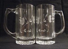 5 3/4 Crystal Mugs - Beer Mugs by Princess House 2ea Price: US $24.99 Look what I found on @eBay! http://r.ebay.com/EcAI8D