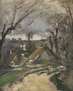 Paul Cézanne - Chaumières à Auvers-sur-Oise, 1872-73.