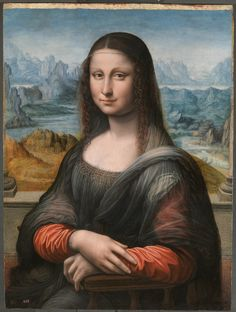 Prado Madrid Mona Lisa, after uncovering the black paint in the background.  She is painted wearing the colors of the Sforza-Visconti.  Red, Black & White.  Italian Sumptuary Laws forbade the wearing of royal colors, designs and patterns by people not of royal birth.  Why is this fact not taken into considerations by the art historians when making conclusions about this painting?  http://www.kleio.org/Florence2012/Presentation_EN.html