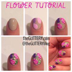 theGLITTERY: flower tutorial!