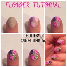 theGLITTERY: flower tutorial!
