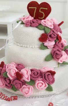 Anniversary Rose Cake Crochet Pattern
