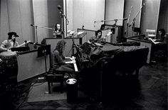 Carole King recording the Tapestry album at A & M studios, 1971